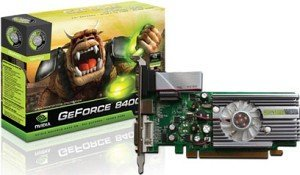 Point of View GeForce 8400 GS, 256MB DDR2, VGA, DVI (VGA-8400-A1-256-D3P)