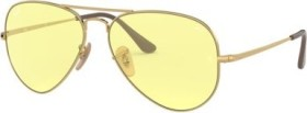 Ray-Ban RB3689 Solid Evolve 55mm gold/yellow-light red evolve (RB3689-001/T4)