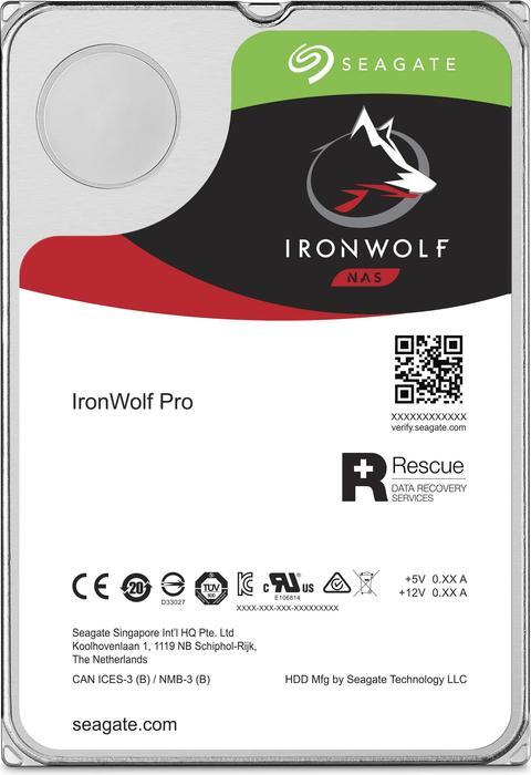 Seagate IronWolf Pro NAS HDD +Rescue 10TB, SATA 6Gb/s (ST10000NE0004)