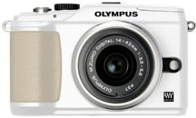 Olympus PEN E-PL2 weiß mit Objektiv M.Zuiko digital 14-42mm II und M.Zuiko digital ED 40-150mm (N4288892)