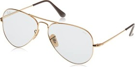 Ray-Ban RB3689 Solid Evolve 55mm gold/light brown-grey evolve (RB3689-001/T2)
