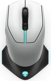 Dell Alienware AW610M Wired/Wireless Gaming Mouse, Lunar Light, USB (545-BBCN)