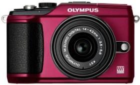 Olympus PEN E-PL2 rot mit Objektiv M.Zuiko digital 14-42mm II und M.Zuiko digital ED 40-150mm (N4288792)