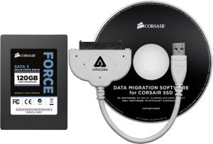 "Corsair Force Series 3 F120 notebook upgrade kit, 120GB, 2.5"", SATA 6Gb/s (CSSD-F120GB3A-NB)"