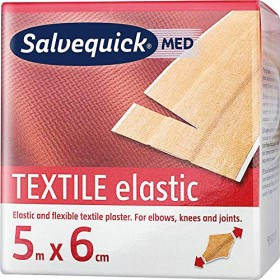 Cederroth Salvequick textile elastic 5mx6cm adhesive plaster, 1 piece