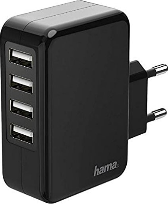Hama Ladegerät 4-fach USB 4.8A schwarz (173676) -- via Amazon Partnerprogramm