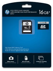 PNY HP branded SDHC 16GB, Class 10 (SD16GBHC10HP-EF)