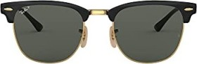 Ray-Ban RB3716 Clubmaster Metal 51mm polished black-gold/green classic (RB3716-187/58)