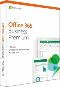 Microsoft Office 365 Business Premium, 1 Jahr, PKC (deutsch) (PC/MAC) (KLQ-00384)