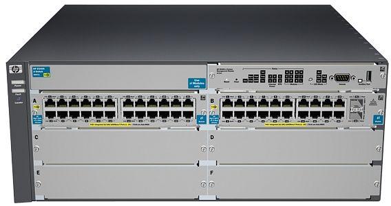 HP Aruba 5400 v2 zl 44G Rackmount Gigabit Managed Switch, 44x RJ-45, 2x SFP+, 4x Modul-Slot, PoE+ (J9533A/5406-44G-PoE+/4G-SFP)