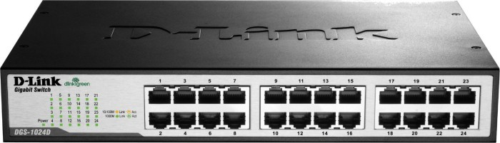 D-Link DGS-10 desktop Gigabit switch, 24x RJ-45 (DGS-1024D)
