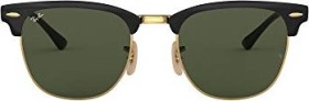 Ray-Ban RB3716 Clubmaster Metal 51mm polished black-gold/green classic (RB3716-187)