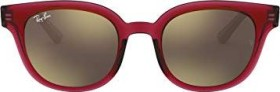 Ray-Ban RB4324 50mm red-transparent/light brown mirror (RB4324-645193)