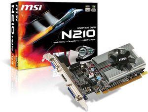 MSI N210-MD1G/D3, GeForce 210 (GT218-200-B1), 1GB DDR3, VGA, DVI, HDMI (V229-002R)