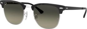 Ray-Ban RB3716 Clubmaster Metal 51mm polished black-silver/grey gradient (RB3716-900471)