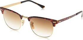 Ray-Ban RB3716 Clubmaster Metal 51mm tortoise-gold/light brown gradient (RB3716-900851)
