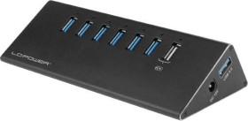 LC-Power USB-Hub, 6x USB-A 3.0, USB-A 3.0 [Buchse] (LC-HUB-ALU-2B-7)