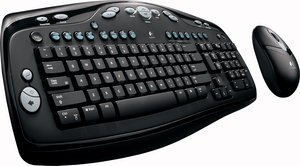 Logitech Cordless desktop LX 300, PS/2 & USB, DE (967545-0102)