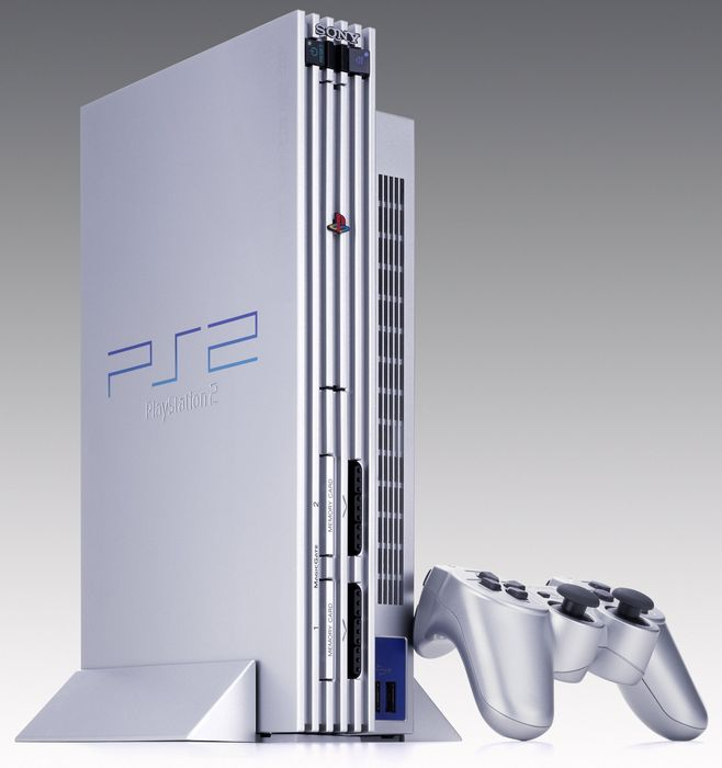 Sony PlayStation 2 Satin Silver Edition, silber