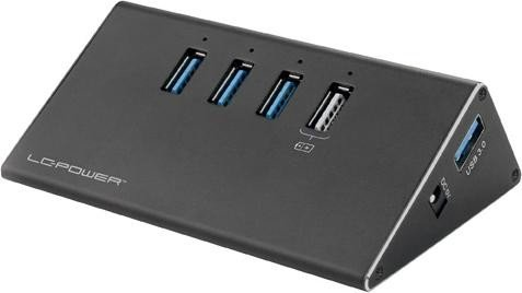 LC-Power USB-Hub, 3x USB-A 3.0, USB-A 3.0 [Buchse] (LC-HUB-ALU-2B-4)