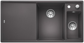 Blanco Axia III 6 S InFino basin right rock grey incl. wooden cutting board (523463)