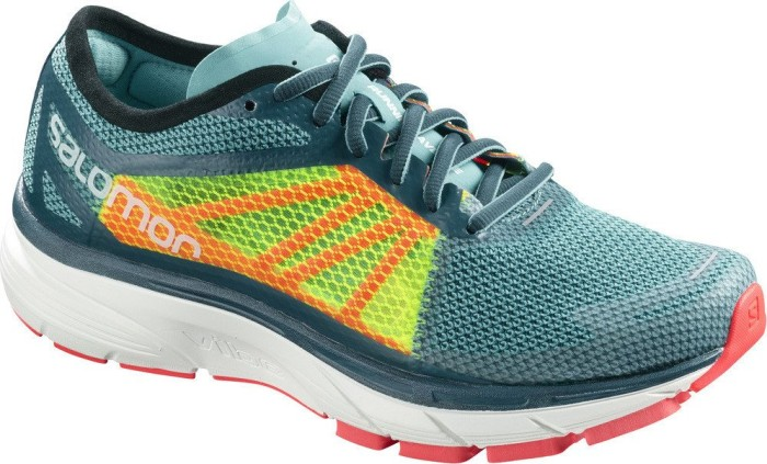 9dc72db56546 Salomon Sonic RA blue curacao safety yellow fiery coral (ladies) (401438