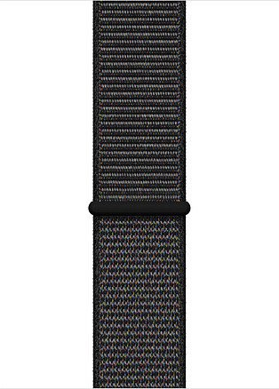 Apple Sport Loop Regular für Apple Watch 44mm schwarz (MTM72ZM/A)