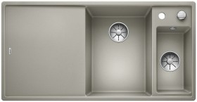 Blanco Axia III 6 S InFino basin right pearl grey incl. wooden cutting board (523465)