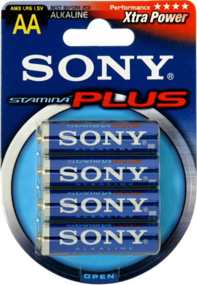 Sony Stamina Plus Mignon AA, 4er-Pack (AM3B4A)