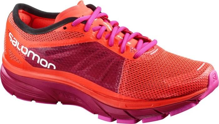 Salomon Damen Sonic Ra W Traillaufschuhe, Orange (Fiery Coral/Cerise./Pink Glo 000), 39 1/3 EU