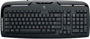 Logitech media Keyboard, PS/2, DE (967415-0102/967560-0102)