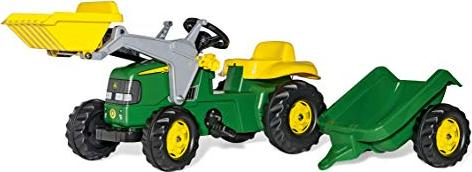 Rolly toys rollykid john deere trettraktor mit frontlader und
