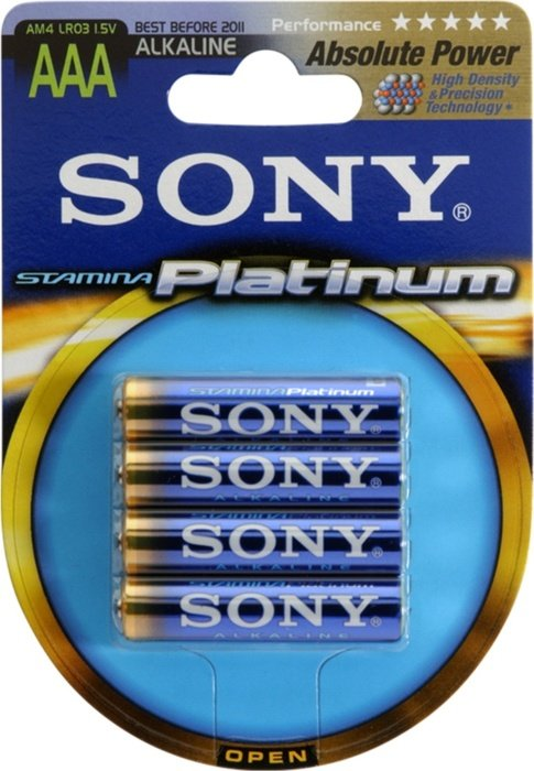 Sony Stamina Platinum Micro AAA, 4er-Pack (AM4PTB4A)