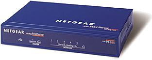 Netgear PS105, 1x Parallel, 4x RJ-45 integr. Hub