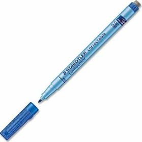 Staedtler Lumocolor 305 M correctable blau, 10er-Pack (305 M-3#10)