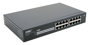 SMC EZ switch 10/100 SMCEZ1016DT, 16-port