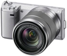 Sony Alpha NEX-5N silber mit Objektiv AF E 18-55mm 3.5-5.6 OSS (NEX-5NKS)
