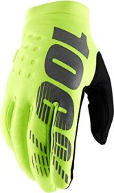 100% Brisker cycling gloves fluo yellow (10016-004)
