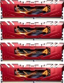 G.Skill RipJaws 4 rot DIMM Kit 16GB, DDR4-2666, CL15-15-15-35 (F4-2666C15Q-16GRR)