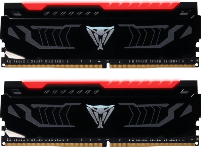 Patriot Viper LED rot DIMM Kit 16GB, DDR4-3000, CL15-17-17-35 (PVLR416G300C5K)