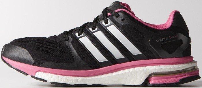 adidas adistar Boost ESM core black zero metallic solar pink (ladies ... 3d8e7d709