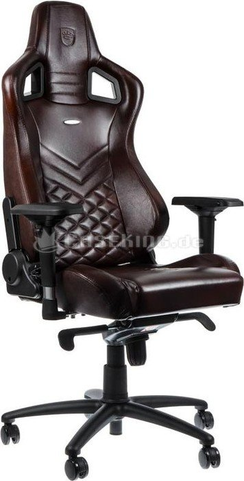 Terrific Noblechairs Epic Genuine Leather Gaming Chair Brown Black Ibusinesslaw Wood Chair Design Ideas Ibusinesslaworg