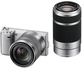 Sony Alpha NEX-5N silber mit Objektiv AF E 18-55mm 3.5-5.6 OSS und 55-210mm 4.5-6.3 OSS (NEX-5NYS)