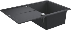 Grohe K400 50-C 78/50 1.0 Kompositspüle with drip off area granite black (31639AP0)