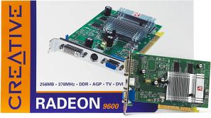 Creative 3D Blaster 5 Radeon 9600, 256MB DDR, DVI, TV-out (70GB000002028)