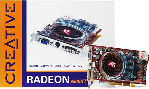 Creative 3D Blaster 5 Radeon 9800 XT, 256MB DDR, DVI, TV-out (70GB000002027)