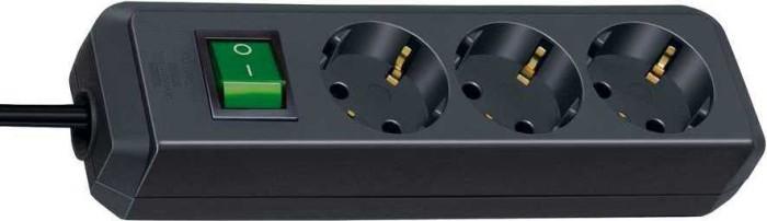 Brennenstuhl Eco-Line mit Schalter schwarz 3-fach, 3m (1152300400) -- via Amazon Partnerprogramm