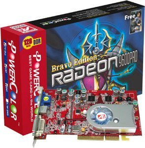 PowerColor Radeon 9600 Pro Bravo, 128MB DDR, DVI, TV-out, AGP