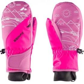 Zanier Shorty STX Skihandschuhe bordeaux/fuchsia (Junior) (12208-6367)