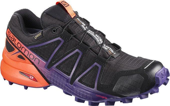 Salomon Damen Speedcross 4 GTX Ltd W Traillaufschuhe, Schwarz (Black/Nasturtium/Parachute Purple 000), 40 EU